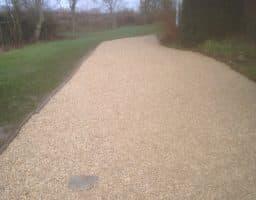Gravel footpath